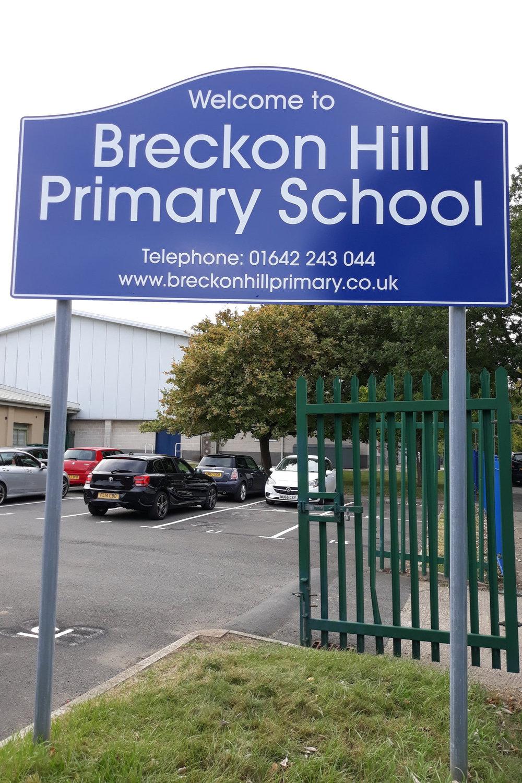 Breckon Hill Primary Post Sign