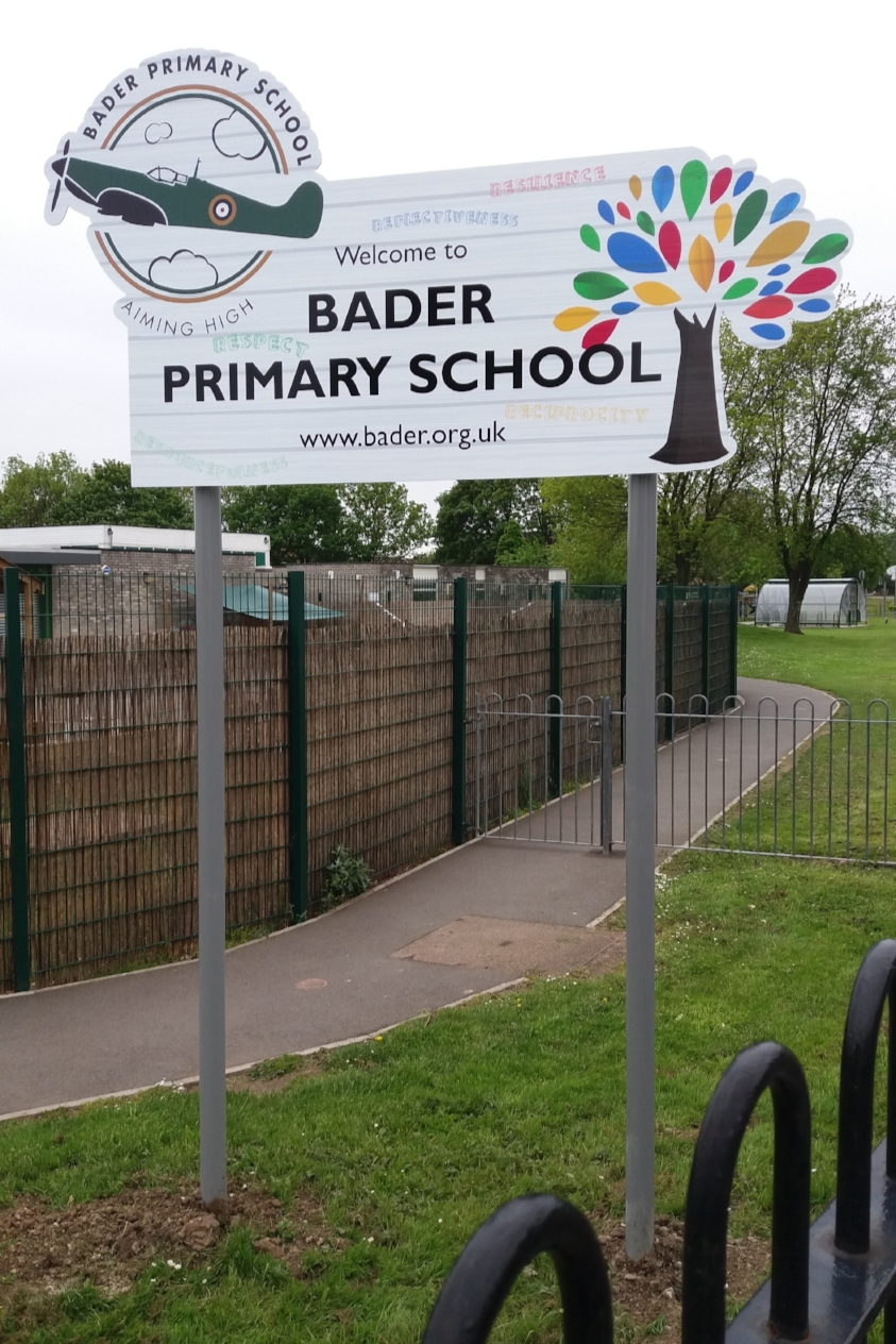 Bader Primary Post Sign