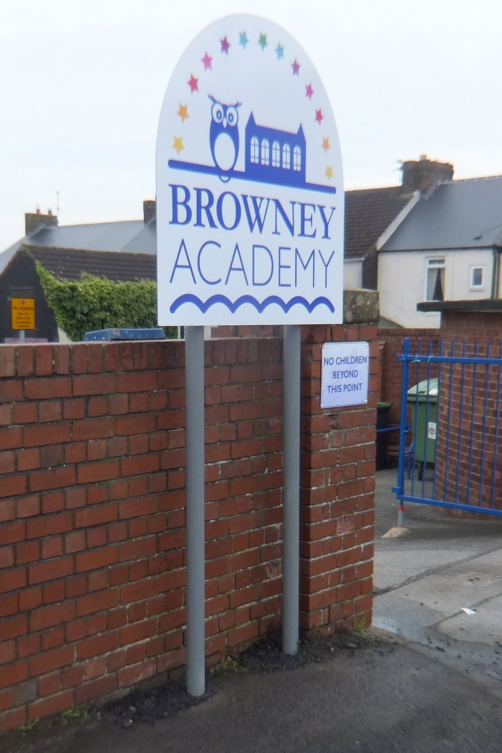 Browney Academy Post Sign
