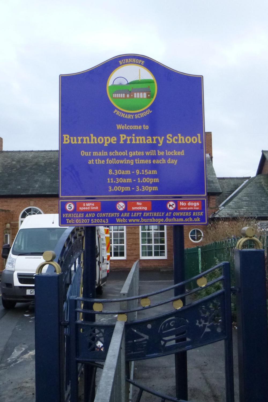Burnhope Primary Post Sign