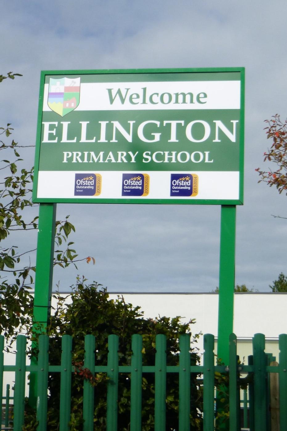 Ellington Primary Post Sign