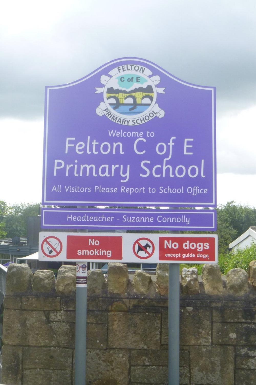 Felton C of E Primary Post Sign