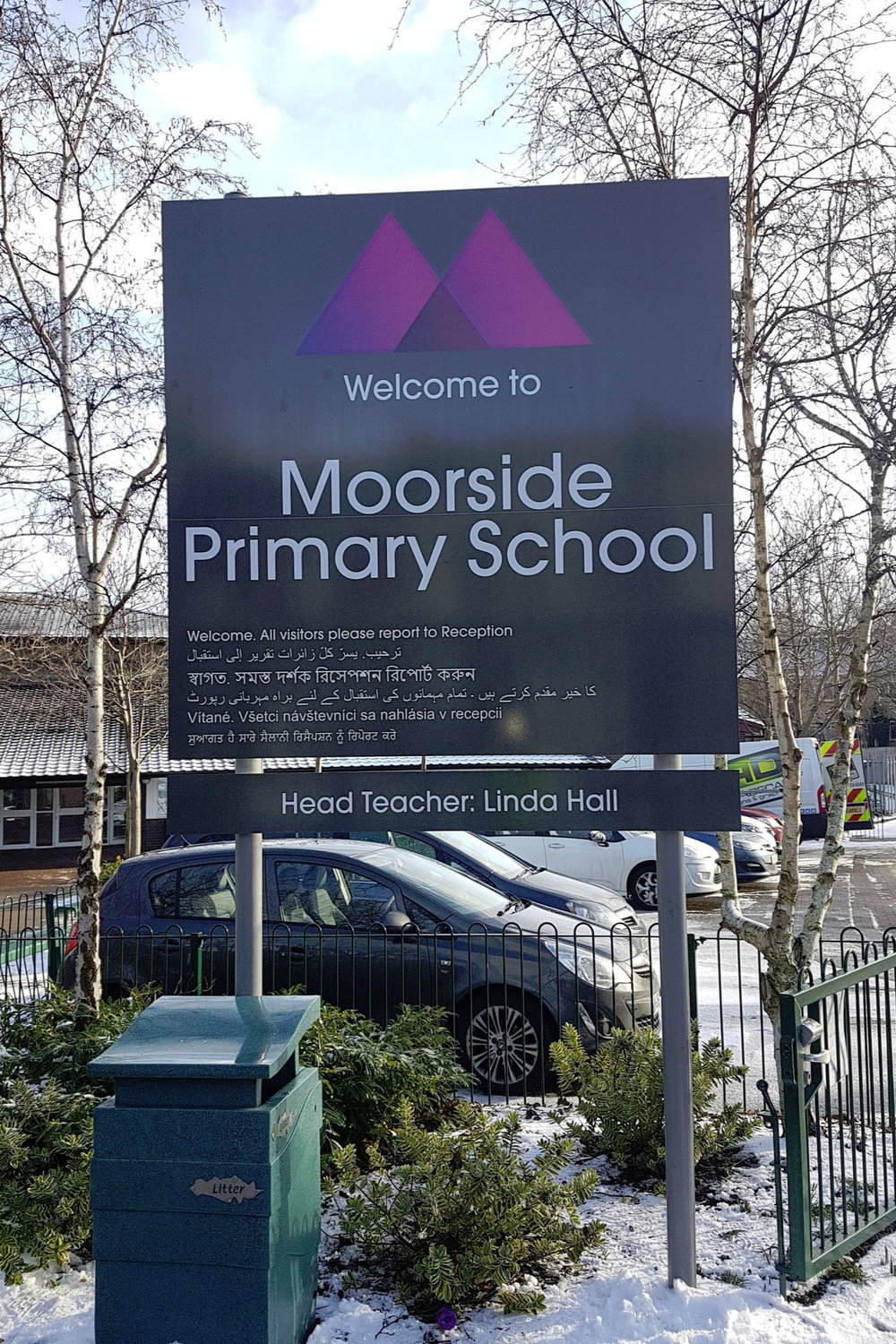 Moorside Primary Post Sign