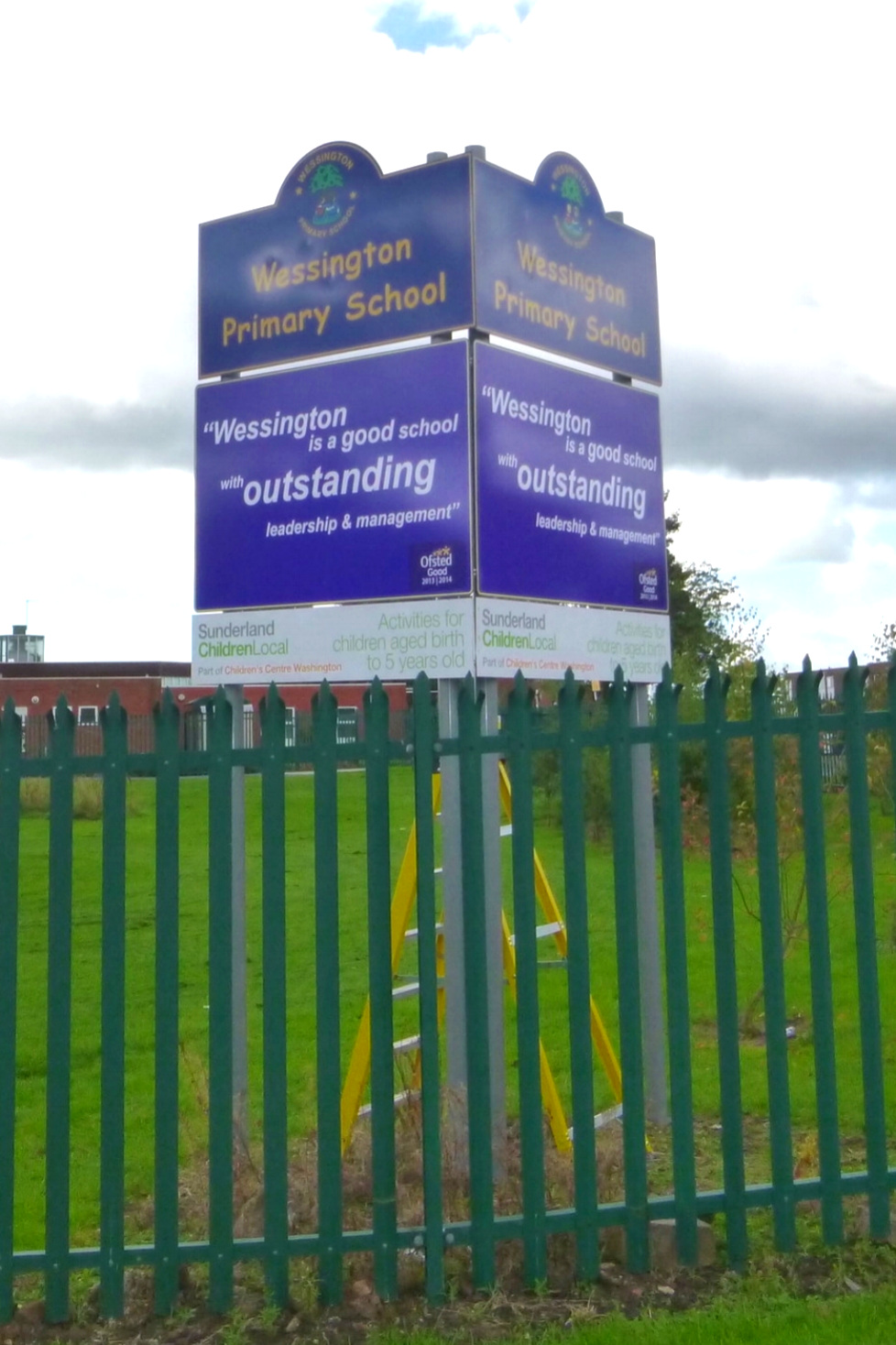Wessington Primary Post Sign