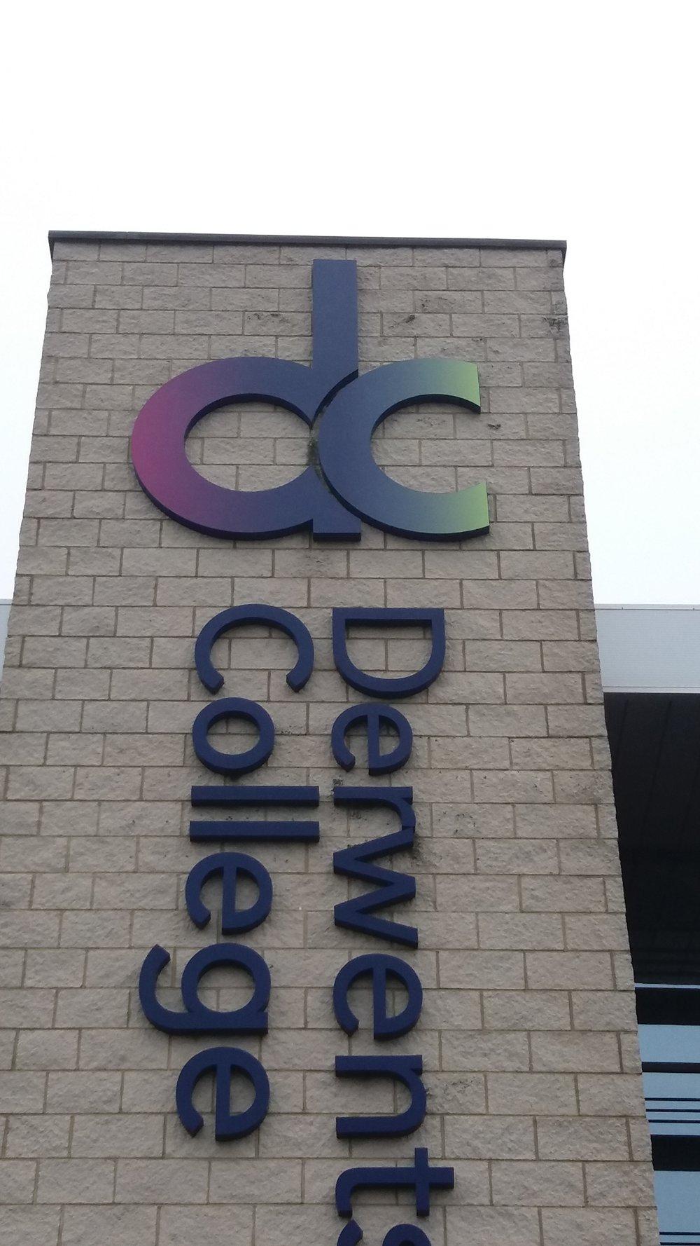 Derwentside College Built Up External Letters