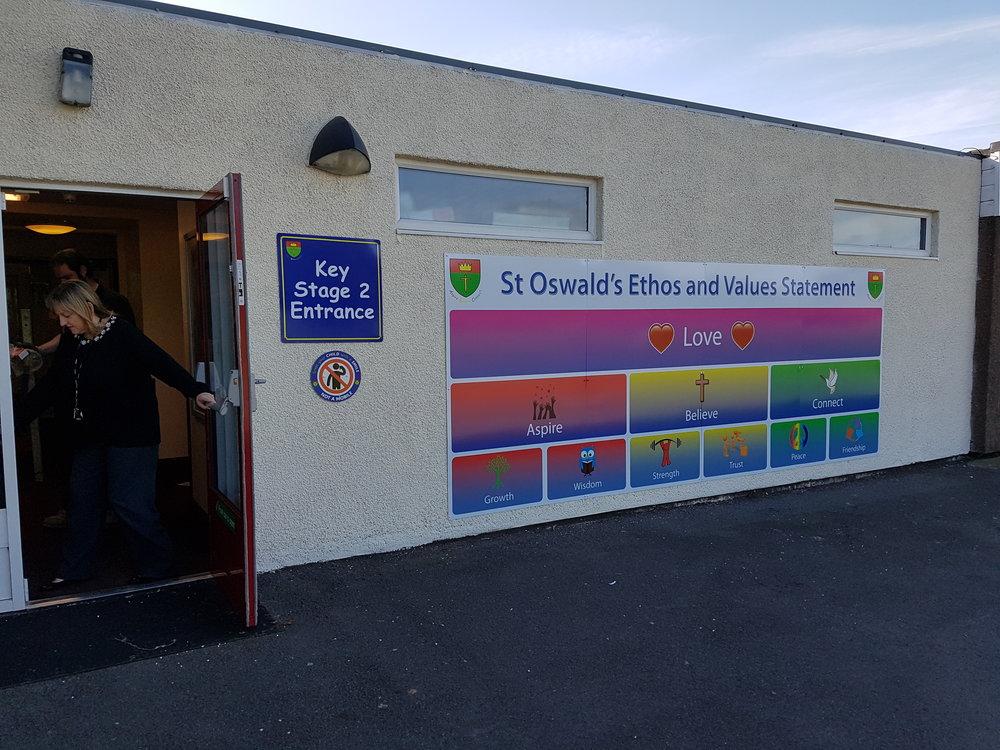 St Oswalds Dibond Wall Mounted Sign