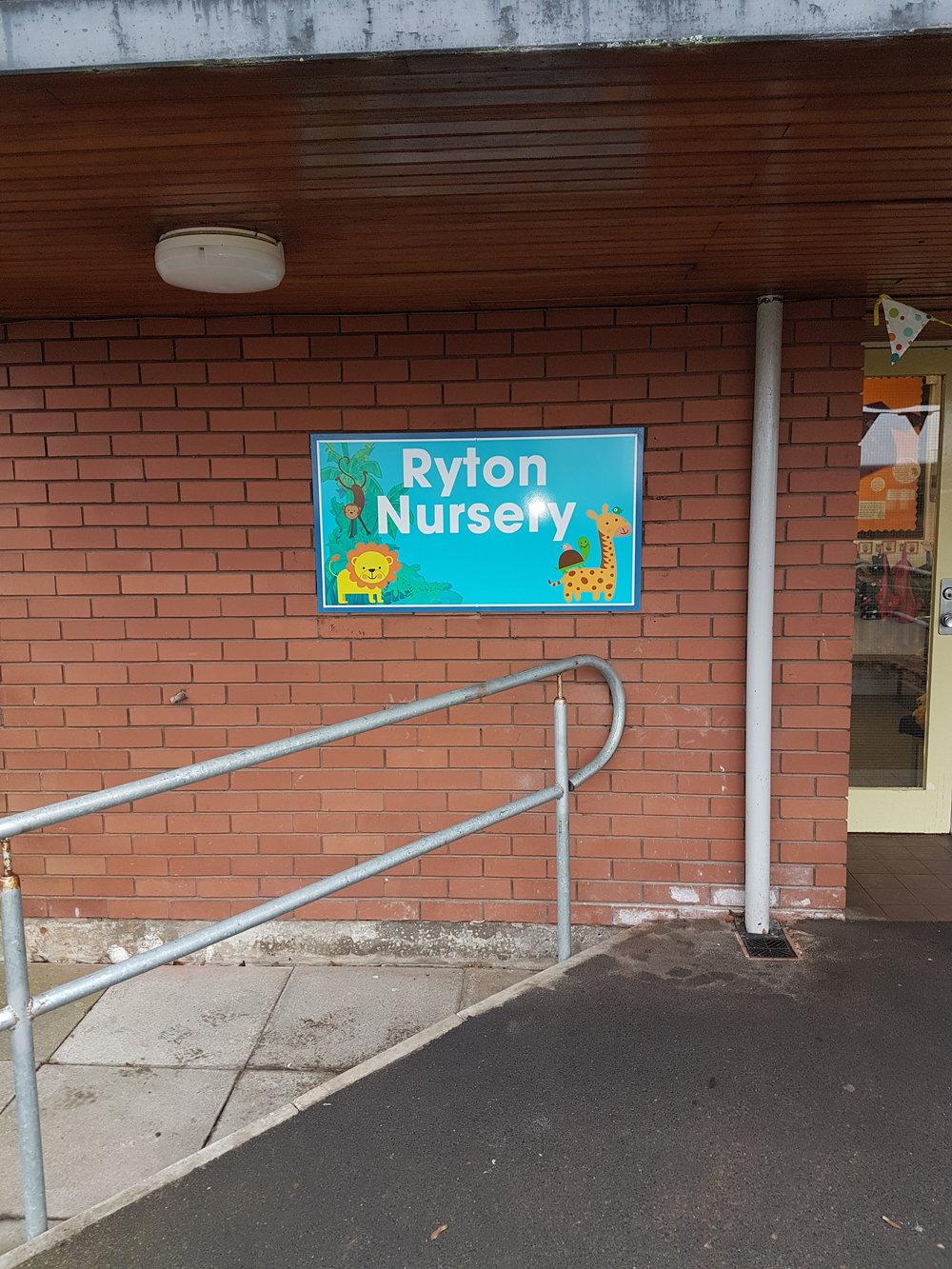 Ryton Nursery Brick Wall Mounted Dibond