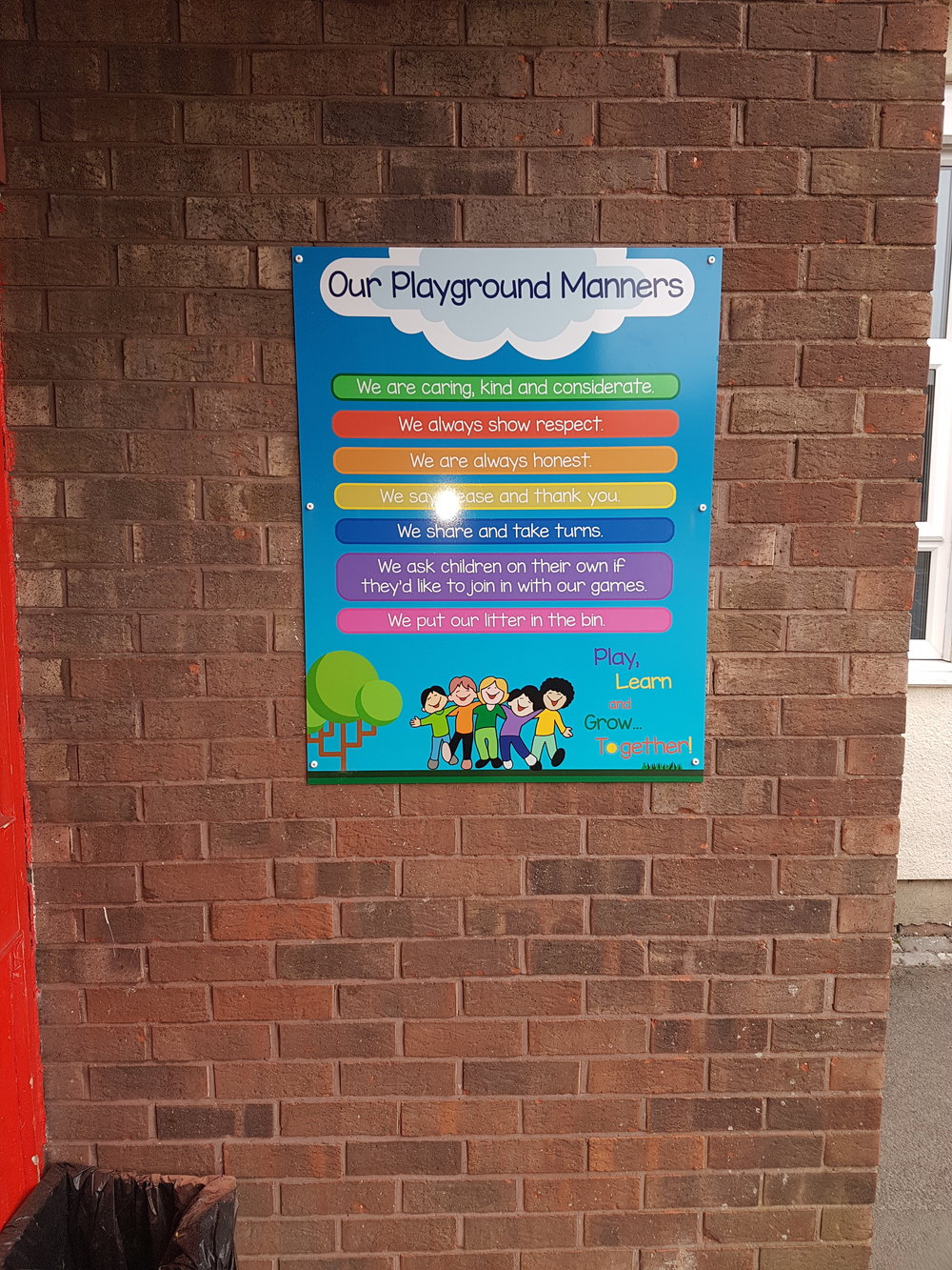 Bearpark Our Playground Manners Board