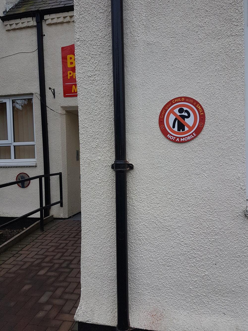 Bearpark Greet Your Child Dibond Sign