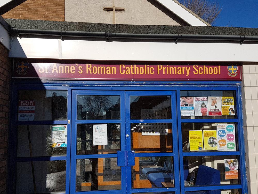 St Anne's Cathlolic Dibond Fascia Sign