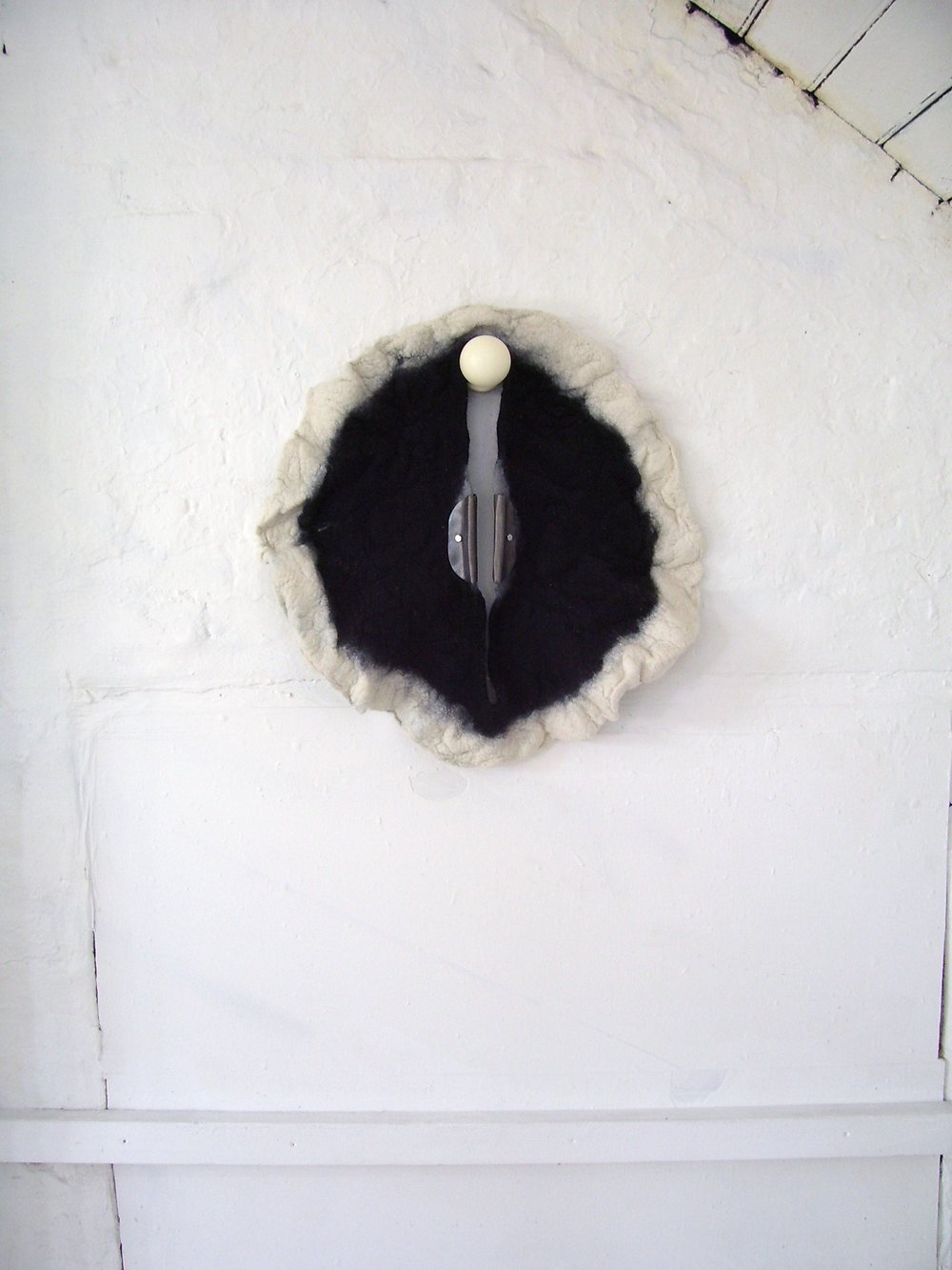 in situ at tactile bosch studios 2011, handmade felt, lead and wood.