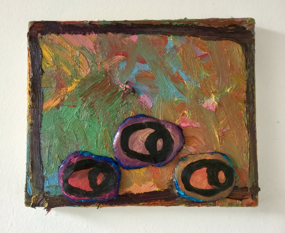 untitled oil and clay on canvas, 27cm x 22cm 2018