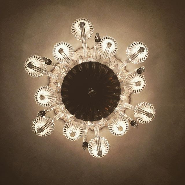 Abstract view of #chandelier in the @thecarlylehotel