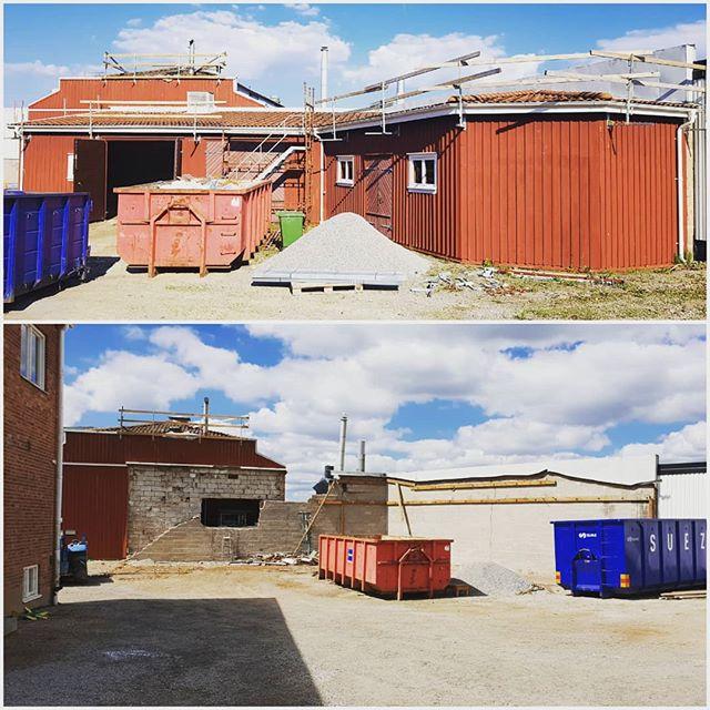 Samma plats.. Samma väder.. Fast fyra veckor senare. Vi gör plats för en ny entré till Väveriet och ett antal p-platser. Vill du ha kontor i Ulricehamns coolaste kvarter?