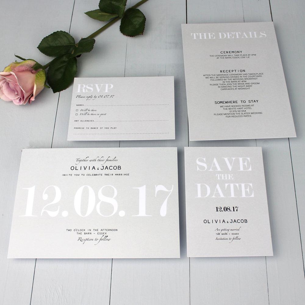 Oversized Date Invitation