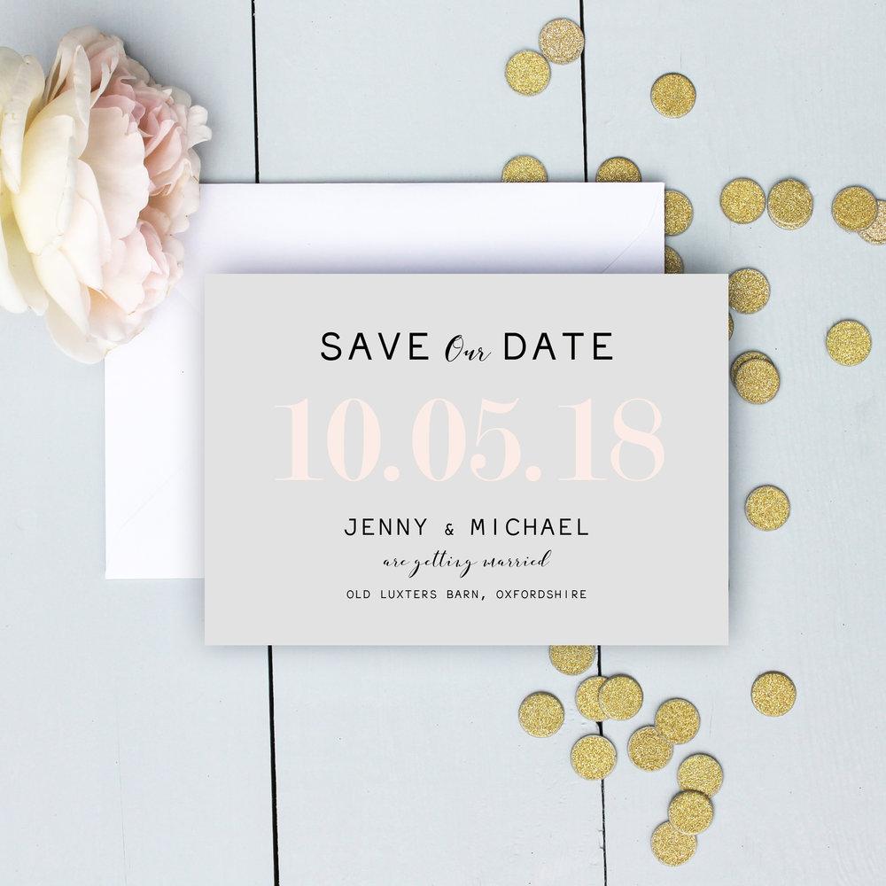 Modern Pastel Wedding Save The Date
