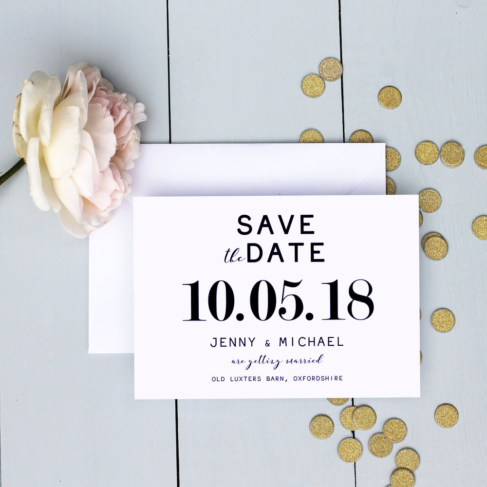 Classic Bold Wedding Save The Date