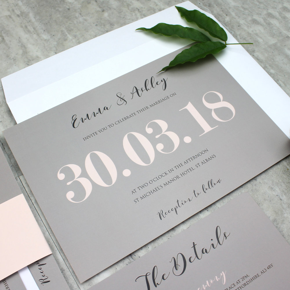 Modern Traditional Pastel Wedding Invitation
