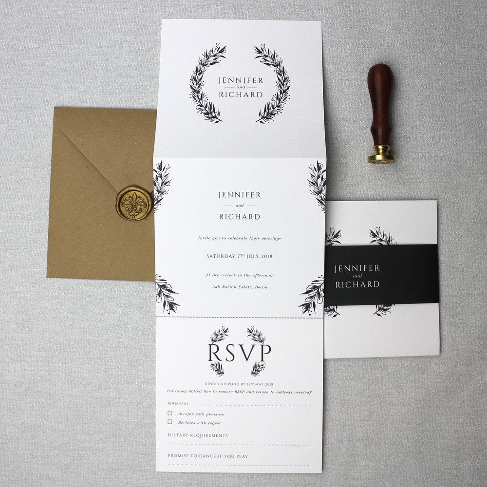 Monochrome Wedding Invitation