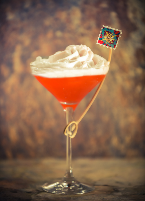 Daiq-O-Matic — dedicated to local pop artist, Peter Phillips. Bacardi Carta Blanca, bubblegum bitters, lime, raspberry and rose, sherry