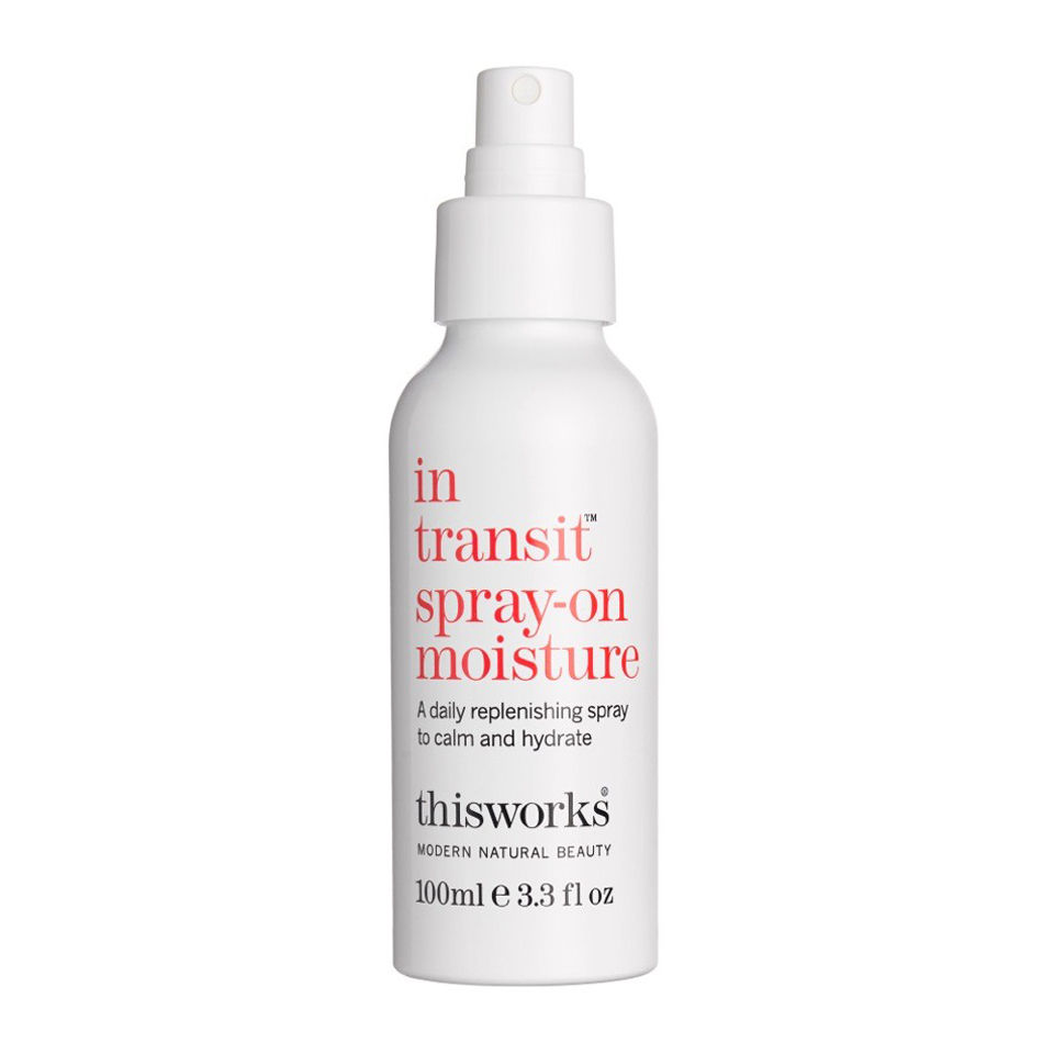 Spray on moisture from thisworks hydrates your thirsty visage with plant oils and organic aloe vera. It also smells great.