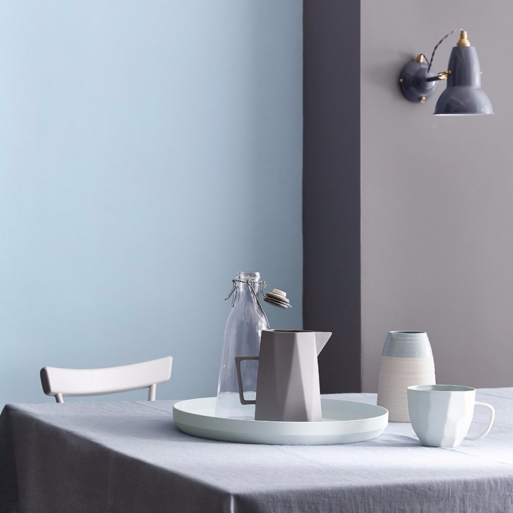 Duck egg - A serious contender for the calmest of all the calming blues, the name Duck Egg might evoke thoughts of grannies and country cottage kitsch. But add it to a muted grey palette and it's as fresh as it is modern. We're big fans of Little Greene'sPale Wedgwoodshade.