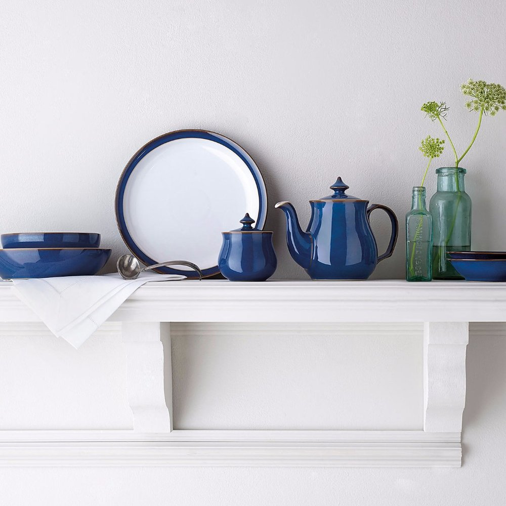 Cobalt - If you're not quite ready for the high levels of melodrama or bluesy commitment of midnight (above), ceramics are a good way to introduce a smattering of the colour. Denby's cool, classic Imperial Bluecollection is 25 years in the making, with vibrant cobalt and crisp white creating a timeless result.