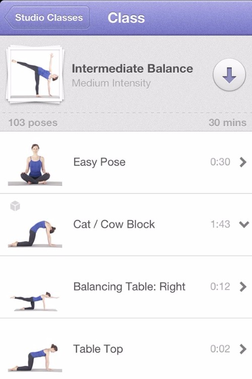 There's hardly a shortage of yoga apps, but  Yoga Studio  is v.comprehensive. Classes for all levels and a pose library mean you'll be a flexy-aficionado in no time.
