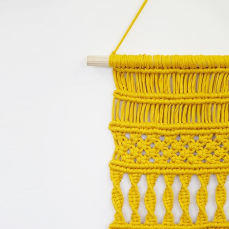 DIY Macrame - Get the kit from Wool and the Gangto create this macrame wall hanging, complete with instructions and hanger. They claim it takes just four hours, but no presh. Use the yarn provided (made with fabric cut-offs from Turkish factories) to make a one-of-a-kind, retro decoration.