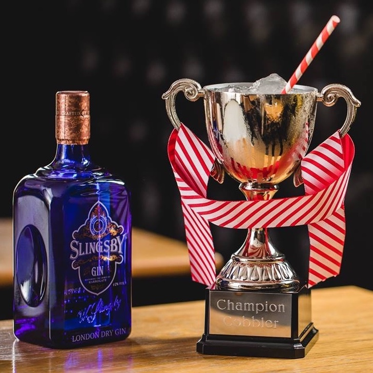 Champion Cobbler  // 40 St Paul's Max out  your   self-love  with this zingy Slingsby serve of Yorkshire Tea and rhubarb flavours, served in a real life trophy. The crowds will actually clap you at weekends.