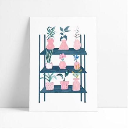 Chloe Hall   illustrates pretty patterned products with a strong botanical influence