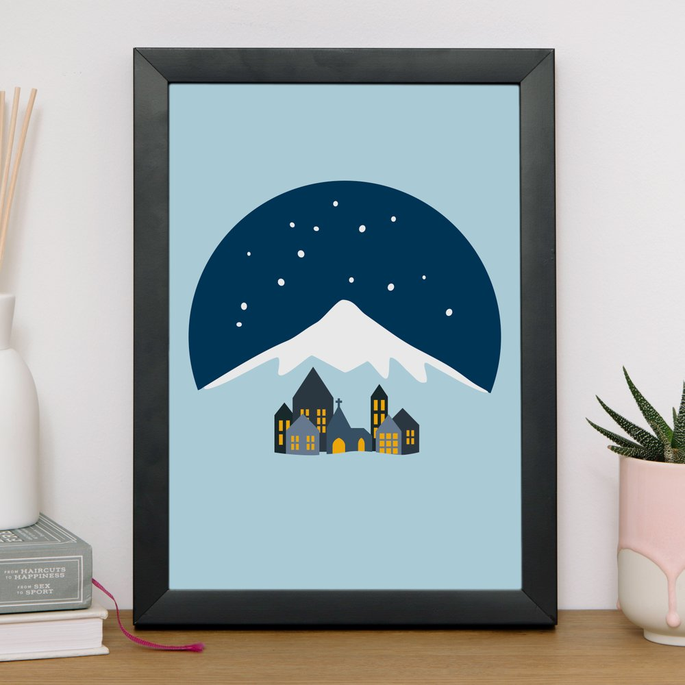 The Charity Arts Project  gives all profits from this minimal,   Silent Day Print (£16)   to British Heart Foundation, CRISIS and Make a Wish Foundation.