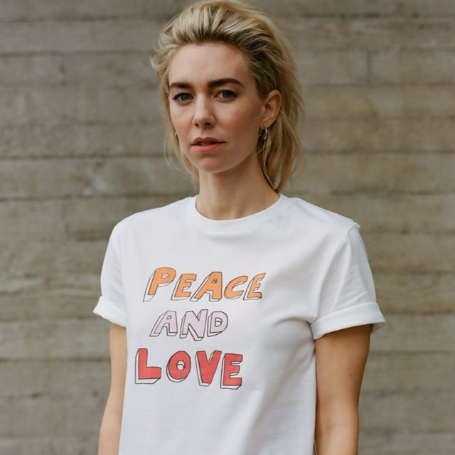 Wear your heart on your chest with a  Bella Freud x War Child  Peace and Love     t-shirt (£25)  . Five whole quid of every sale goes to help children affected by war.