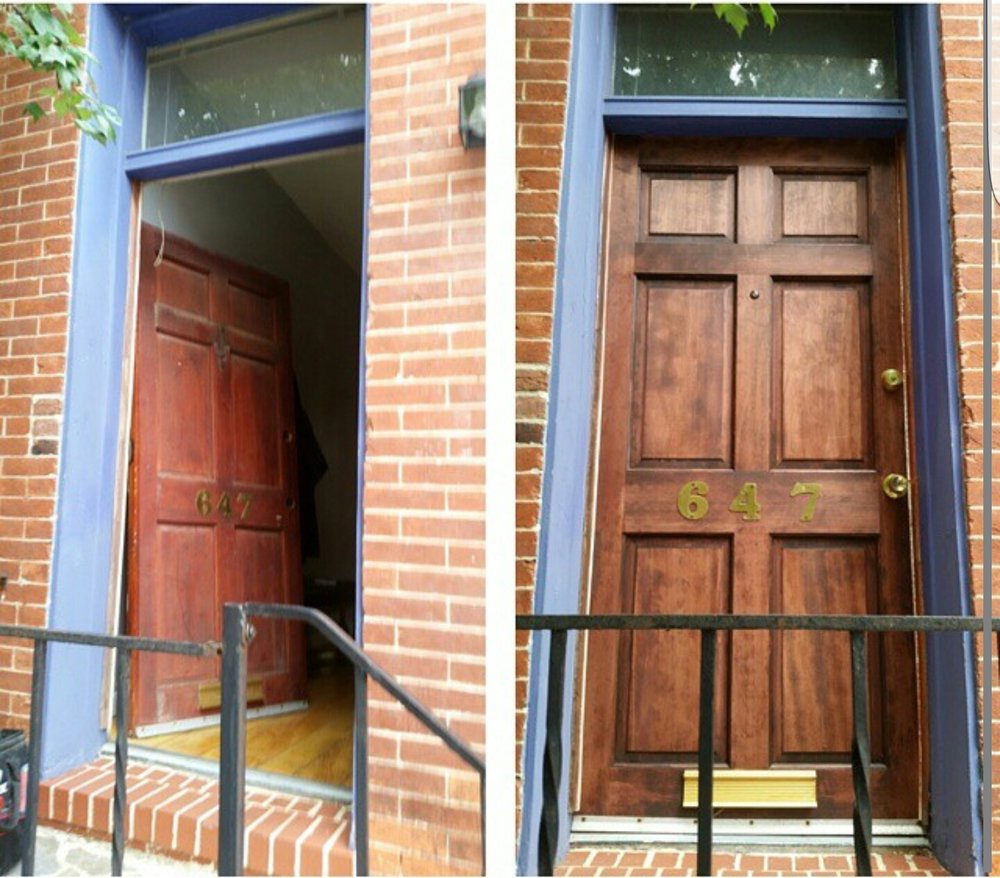 Front Door Install & Rustic Finish - - Click here for more photos:
