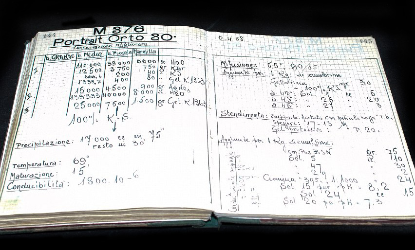 The handwritten formula for P30 black and white film (photo courtesy of FILM Ferrania)