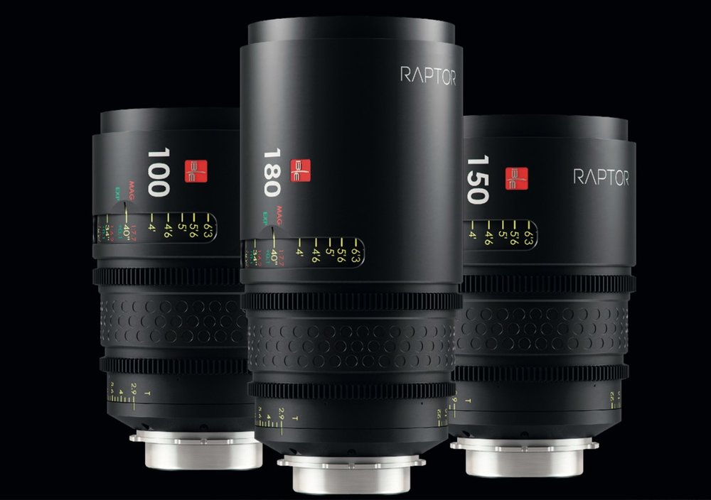 IBE/Optics New Raptor Lenses for full frame cinema cameras