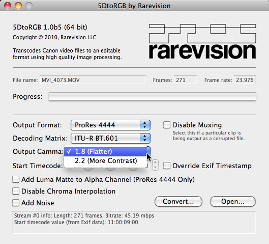 Rarevision\'s 5DtoRGB - A Better Way to Convert Canon 5D Mark II ...