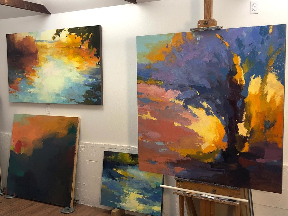 Works in progress in Scott Gellatly's studio.