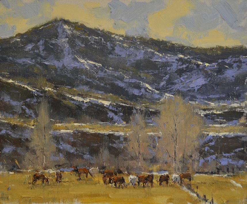 April Horses, 11x14 oil, by Dan Young