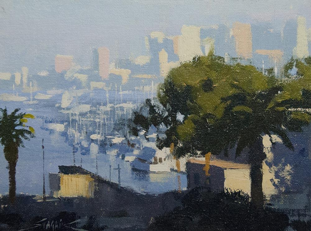 Summer Fog, 8x10 oil, by Gàbor Svagrik