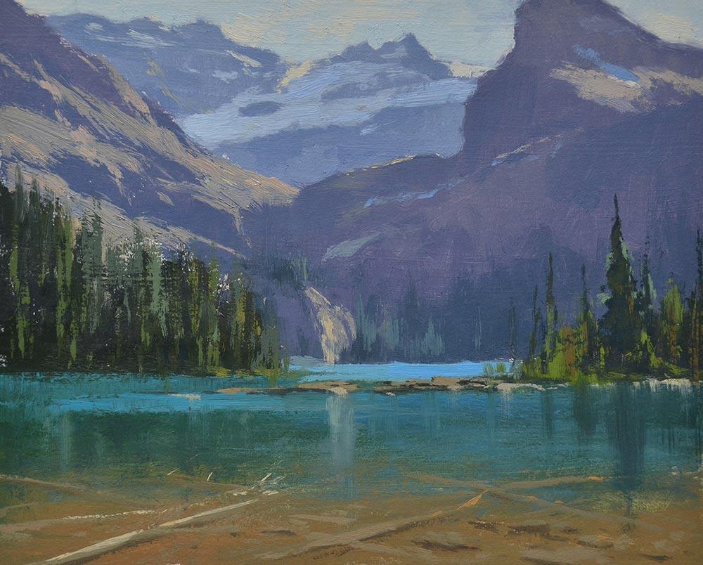 Lake O'Hara, 8x10 oil, by Gàbor Svagrik