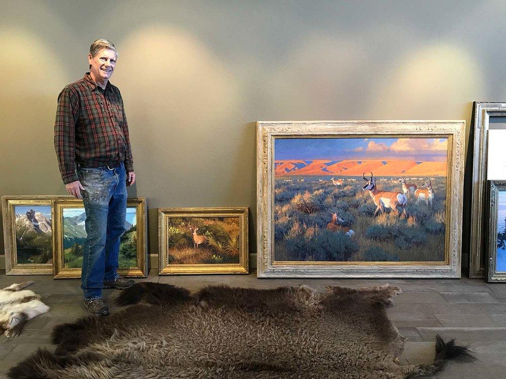 Artist Ralph Oberg in his studio.