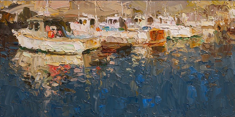 Evening Reflection | 12x24 inch oil | © Gregory Packard