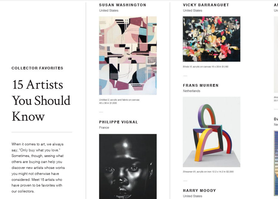 Saatchi Art - 15 Artists you should know - From the Spring 2018 Saatchi Art Catalog. View the catalog here.