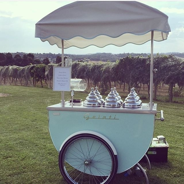Our gorgeous gelato cart featuring at @vueonhalcyon for a wedding in the Yarra Valley. #gelato #gelatocart #yarravalley #wedding #delicious #yummy #tasty #7apples