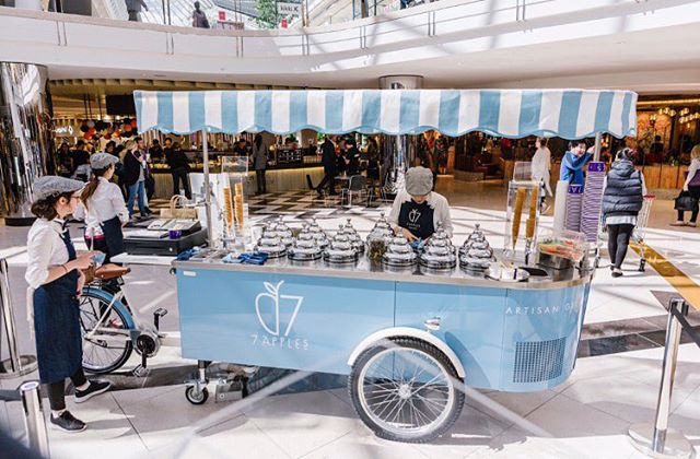 Final touches before we are ready to serve all of our awesome customers for another day. #7applesgelato#7appleschadstone#7applesemporium#7applesgelatocart#chadstone#gelatocart#hire#functions#gelato