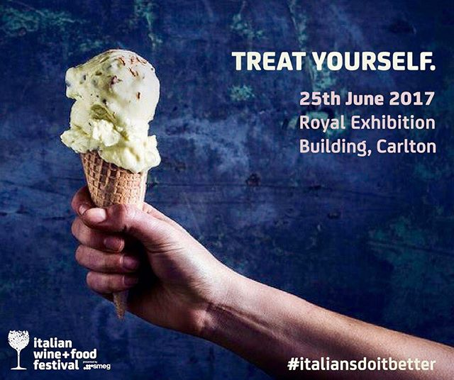 Not long now!!! 2017 Italian wine + food festival. 25th June at The Royal Exhibition Building, Cartlon. Tickets still available. Make sure you come by and say hi. #italiansdoitbetter#italianwinefoodfestival#7applesgelato#7applesgelatocart#gelato