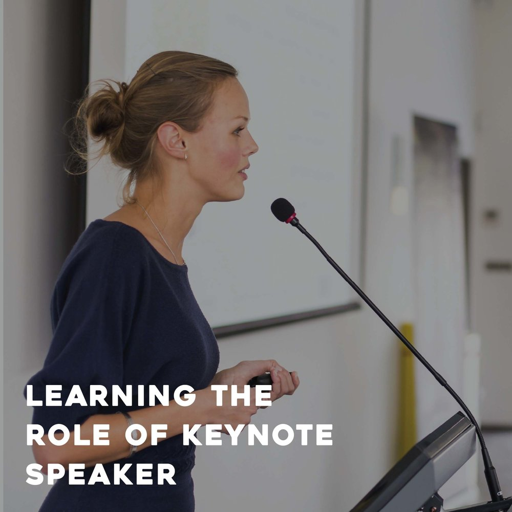 Learning the Role of Keynote Speaker
