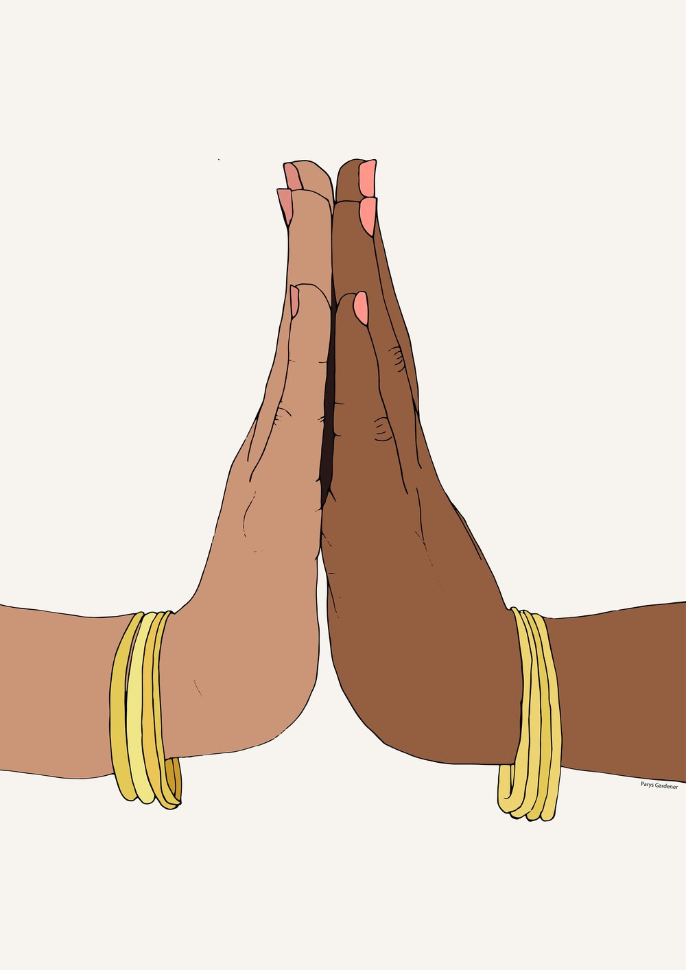 Healing Hands (Dismantling Colourism) parysgardener art  digital illustrator