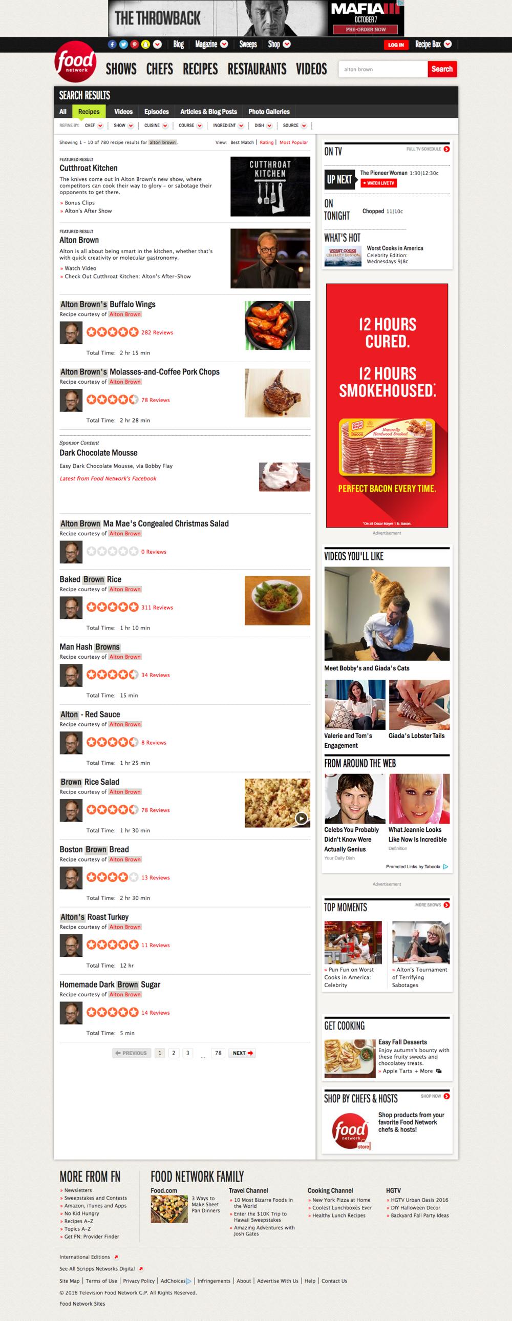 Food Network Search — Carol Glover